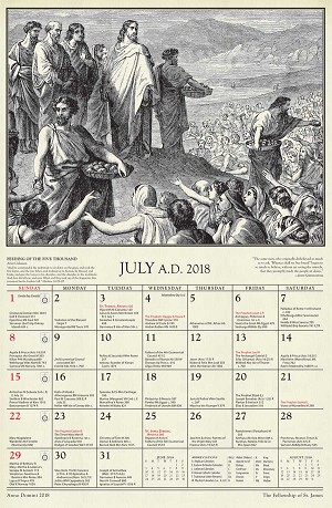 Anno Domini 2018: The St. James Calendar of the Christian Year